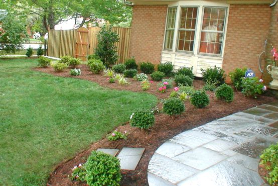 Inexpensive Backyard Landscaping Ideas Photos : Front yards, Home design and Easy landscaping ideas on Pinterest