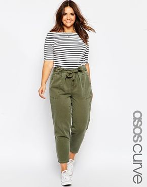 ASOS CURVE - Pantalon à poches fonctionnelles