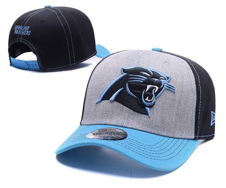 Men's / Women's Carolina Panthers NFL Spirited Lightly Structured Baseball Hat - Grey / Black / Blue
