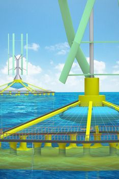 Hybrid Wind Power Generating & Fish Farming System rethinks marine spatial planning and is designed resolve this conflict between wind energy companies and small-scale fishing companies.  #RedDot #DesignAward #DesignConcept #prototype #ready-to-launch #online-exhibition