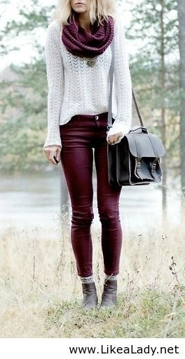 #some #burgandypants #fallstyle