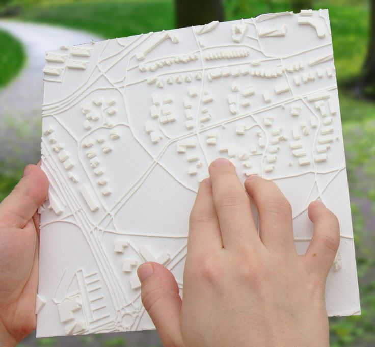 Touch Mapper makes it very easy to get custom tactile maps for any address of your choice. You can choose between ordering an affordable 3D print or 3D printing the map yourself