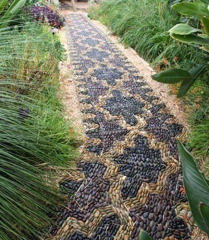 Интересные садовые дорожки