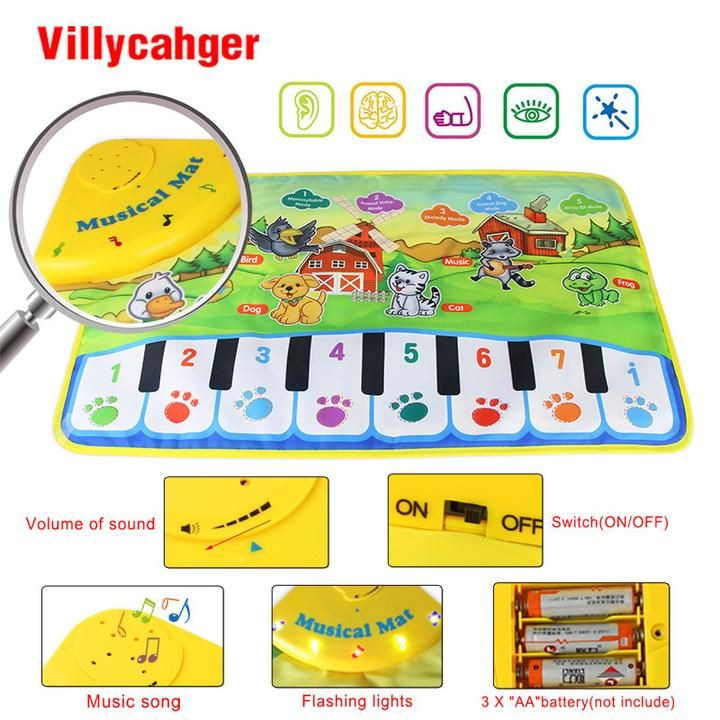 Baby musical carpet  Children Play Mat baby Piano Music gift baby  educational mat  Electronic toys for kids