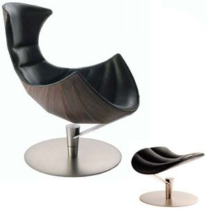 Fjords Lobster Chair and Footstool in Passion Black Leather Scandinavian Norwegian Lounge Chair. Hjellegjerde Norwegian Recliner Chair Lounger - Fjords Scandinavian Recliners, Stressless Chairs, Stressless Sofas and other Ergonomic Furniture.