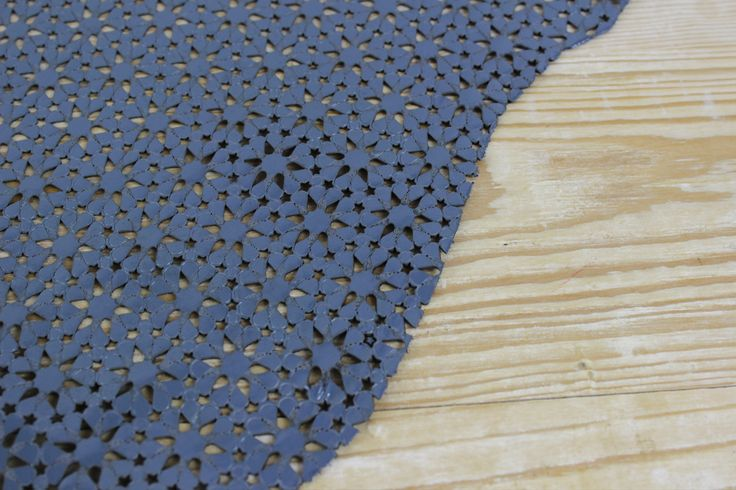 Blue Laser Cut Leather Hide