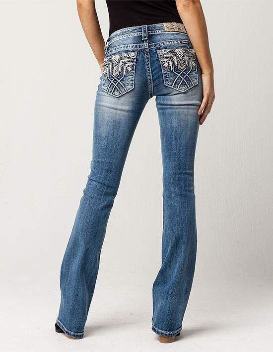 Miss Me Aztec Womens Bootcut Jeans