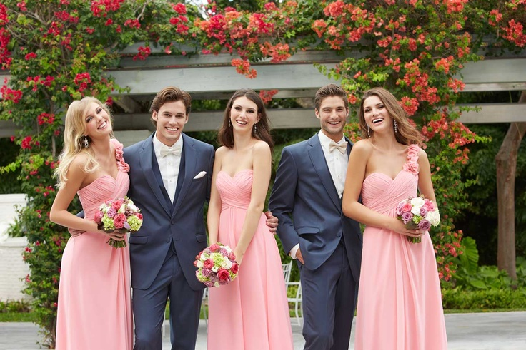 Allure Bridesmaids Styles: 1221 and 1267  Allure Men: Slate Tuxedo
