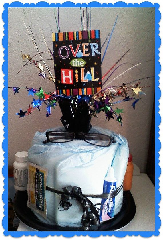 Over the Hill  Gag Gift  Birthday  Diaper Cake by 2CuteDesignsLS, $25.00