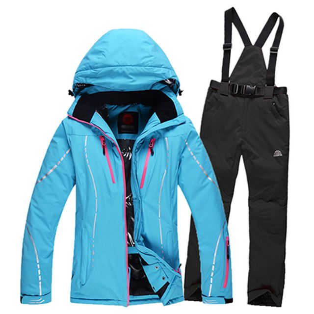 Daily Price $79.79, Buy 2016 women's ski suit outdoor sports camping hiking solid bike down ski jacket and waterproof trousers Wind Resistant