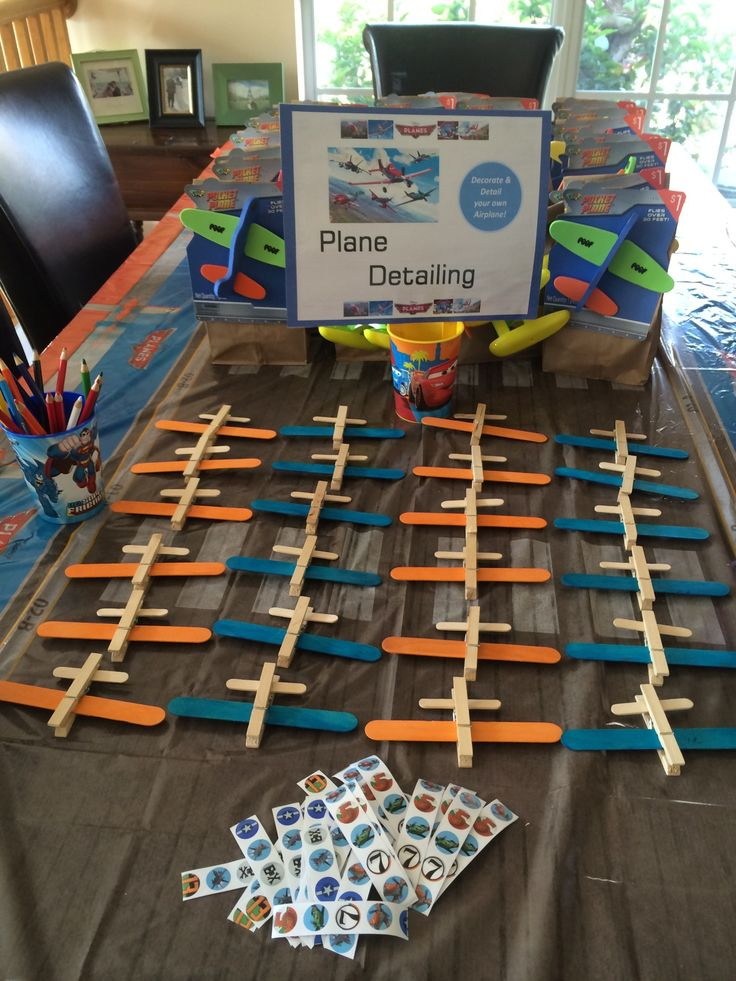 Disney Planes Birthday Party Clothespin Planes Project