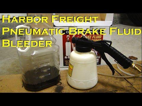 Harbor Freight Pneumatic Brake Fluid Bleeder - One Person Job - YouTube