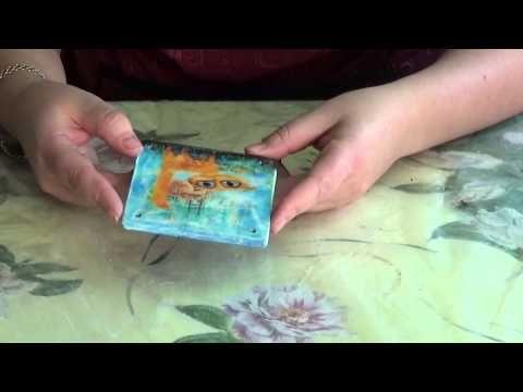 Декупаж Мастер класс по нитяному кракелюру - YouTube