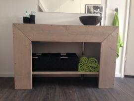 Badkamer meubel recht van steigerhout (Grey)   Badkamermeubels   JORG`S Houten Meubelen