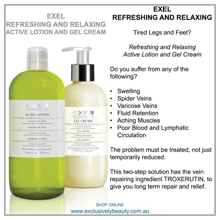 Tired Legs and Feet  Active Lotion and Relaxing Gel Cream
