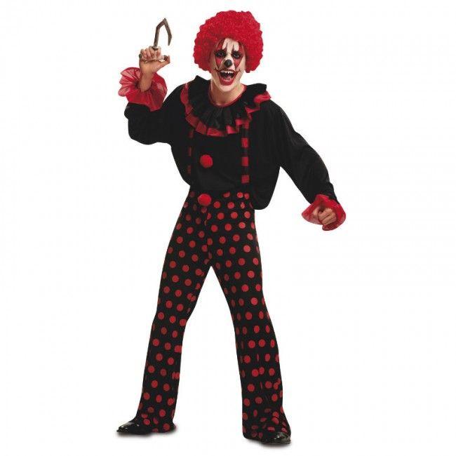 Disfraz de Payaso Diabólico Topos para hombre #disfraces #halloween #killerclown