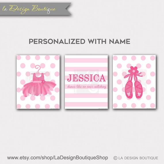 Personalized Ballerina Dancer Girl by LaDesignBoutiqueShop on Etsy