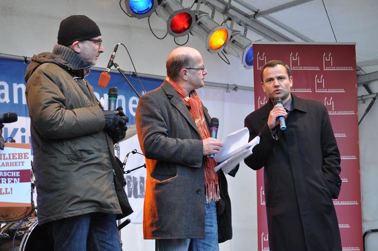 Sebastian Edathy nahm an einer Diskussionsrunde, u.a. mit Volker Beck von den Grünen, auf der Kirchenbühne auf der Meile der Demokratie 2013 teil.