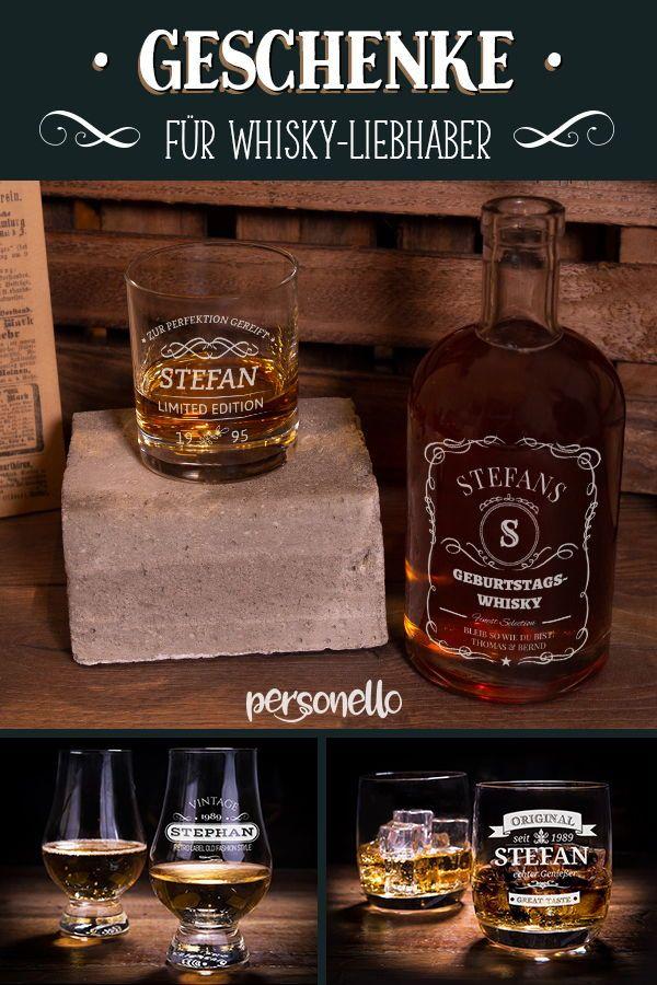 Geschenke.de Personalisierbares Whisky Glas mit Gravur Namen Geschenkidee 30 Geburtstag personalisiertes Whiskyglas als Geschenk zum 30 Geburtstag M/änner und Frauen