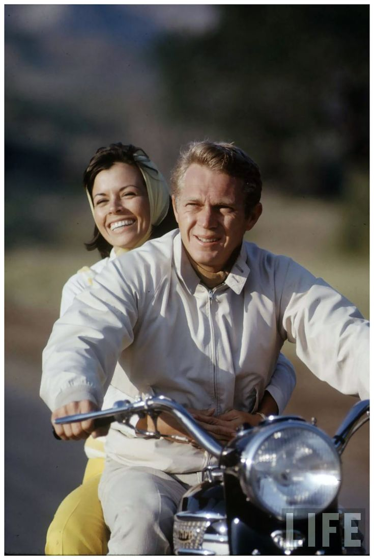 Actor Steve McQueen & wife Nellie Motor 1963 a