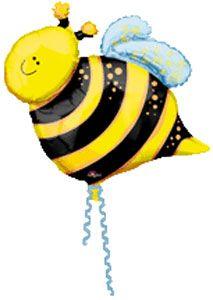 busy bee foil balloon