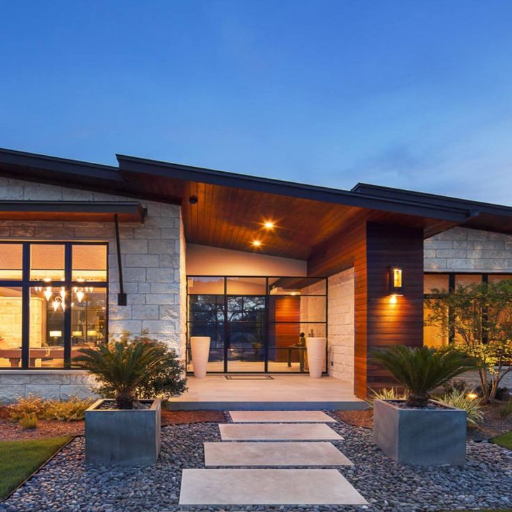 Modern Home Ideas Exterior Design: Modern Hill Country Contemporary Design By Heyl Architects