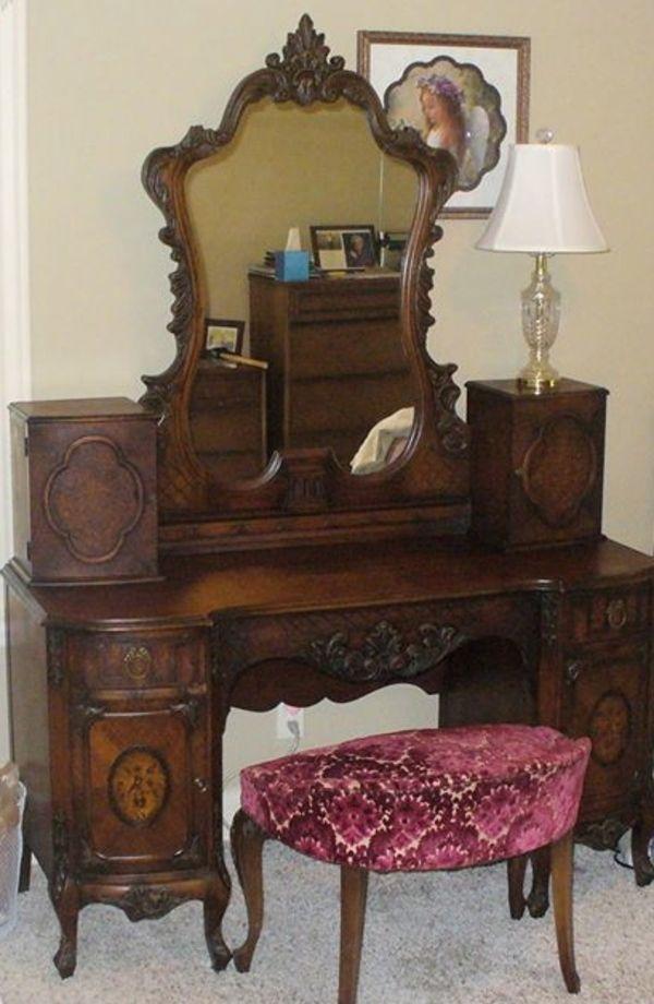 antique vanity set furniture. lovely vanity by johnson \u0026 furniture co. antique set a