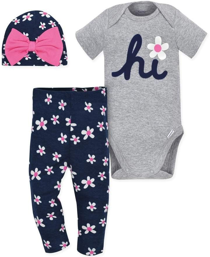 4b83e1469 Baby onesie pant and hat set. #babyfashion #onesie #daisyprint #affiliate