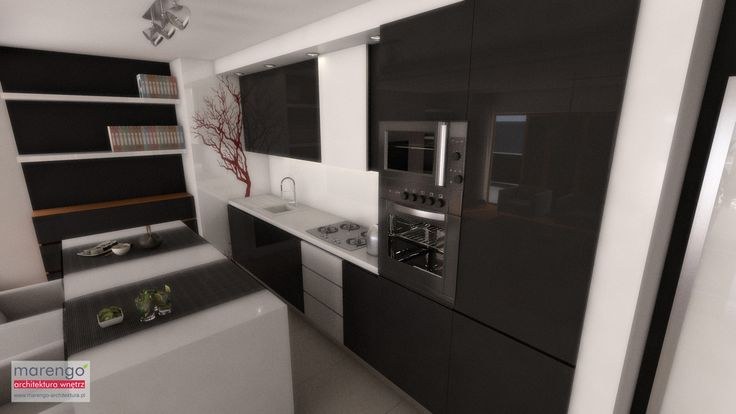 projekt mieszkania w Tarnowie, więcej na: http://marengo-architektura.pl/portfolio/minimalistyczne-wnetrze/