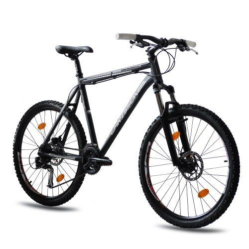 26 MOUTAIN BIKE BICYCLE CHRISSON COLONIATOR Alloy with 24S SHIMANO ALIVIO black matt RST TITAN Fork - (26 inch)