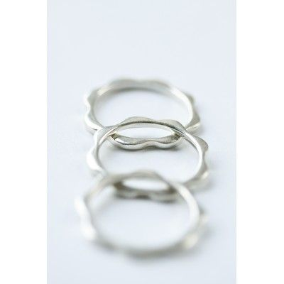 Sterling Silver Wavy Stack Ring