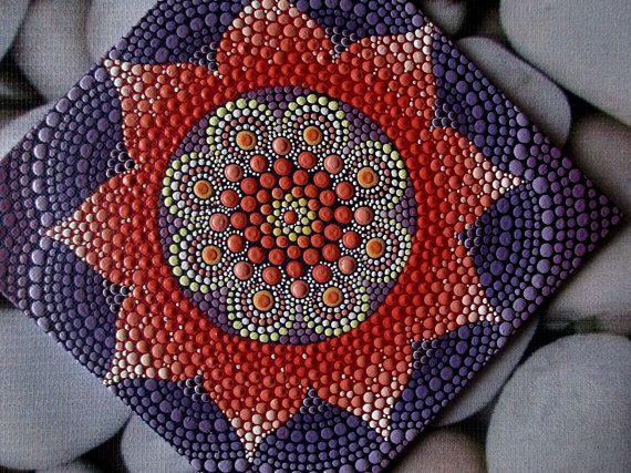 Texto original en. Mandala. Una técnica única por AnnaSmirnova74