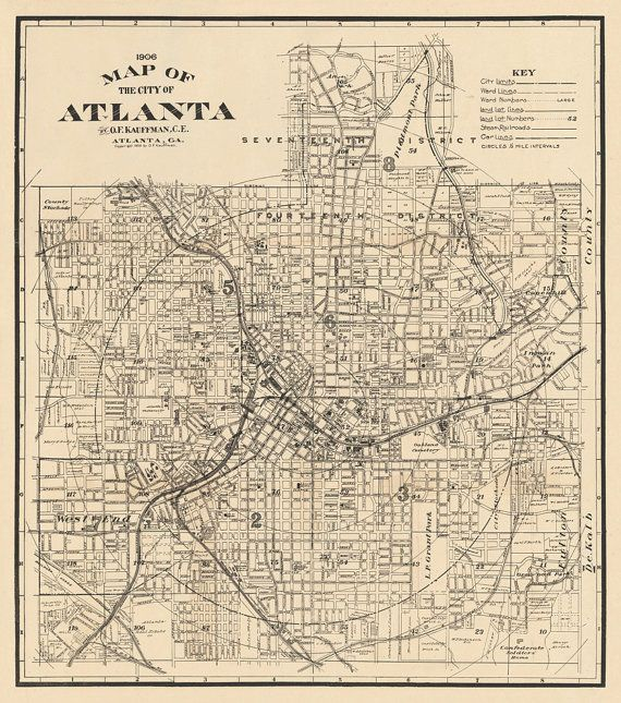 Best Atlanta Map Ideas On Pinterest - Georgia map key