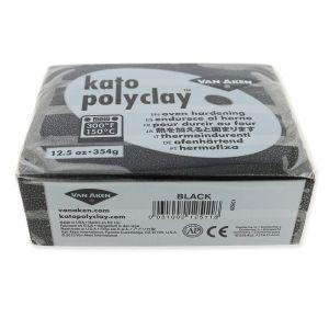 Pâte polymère Kato Polyclay 354 gr Noir (n°511) : L'argile polym