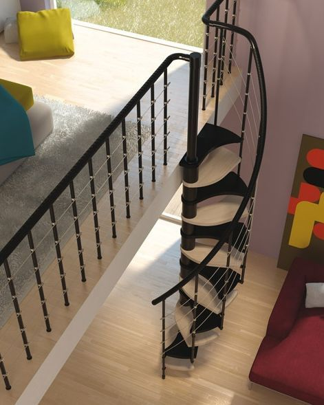 Las 25 mejores ideas sobre escaleras para espacios - Escaleras de caracol minimalistas ...