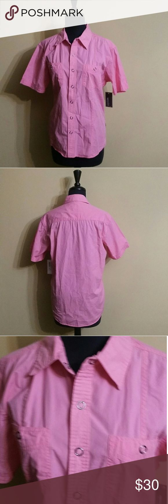 Paper Denim & Cloth Shirt This shirt is brand new with the tags. It is a Pepto-Bismol color pink. Paper Denim & Cloth Tops Blouses