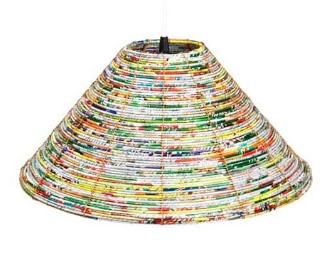 27 best lampshades woven images on pinterest lampshades lamp weve seen a lot of gum wrapper handbags but how about this lamp mozeypictures Images