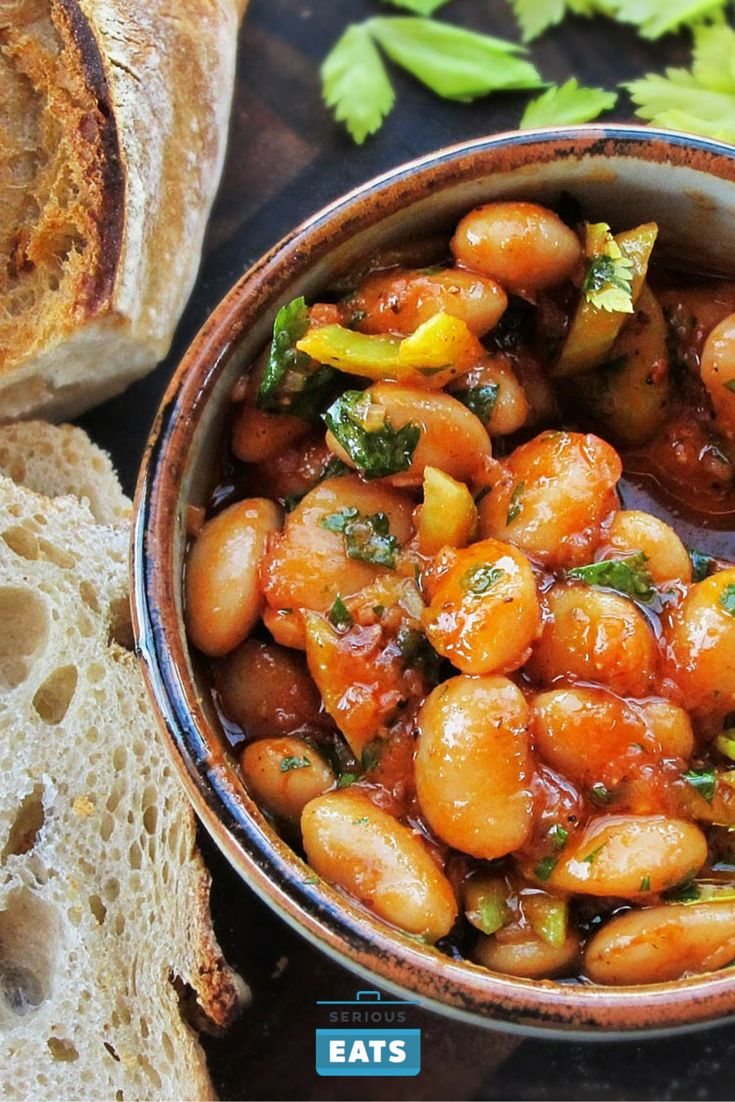 Giant beans in a flavor-packed Spanish-style warm salad.