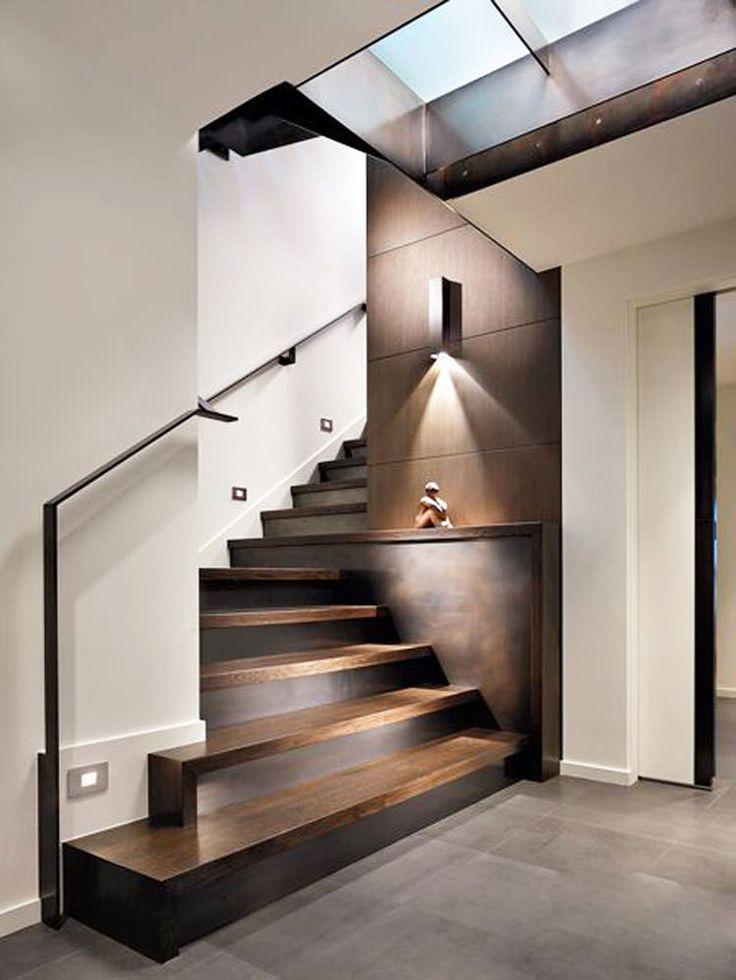 Corrimano e ringhiere per scale interne dal design moderno - Dimensionamento scale interne ...