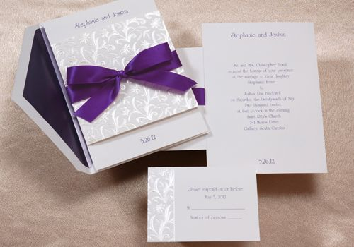 Wedding Invitations With Purple Ribbon: 293 Best Images About Purple Wedding Ideas On Pinterest