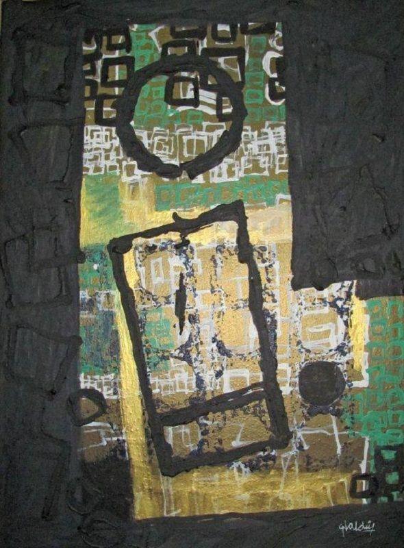 Zonas ignoradas 2 62 cm x 45 cm Acrílico-Lienzo 2013 800€ #arte #art #artecubano #cubanart #galerías #galleries #pintura #painting #EliseoValdes