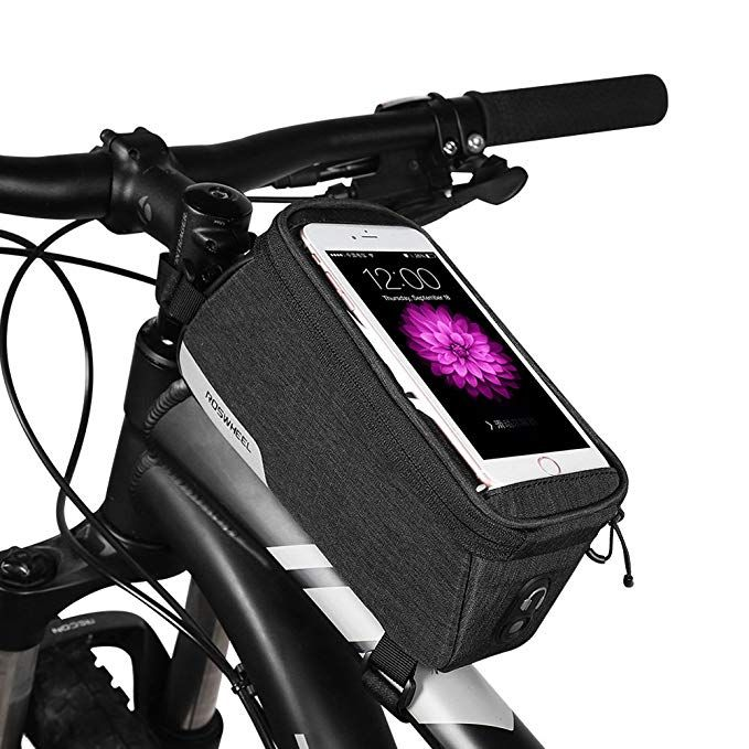 Coteetci Bicycle Bags Double Pouch Bicycle Front Tube Frame Bag