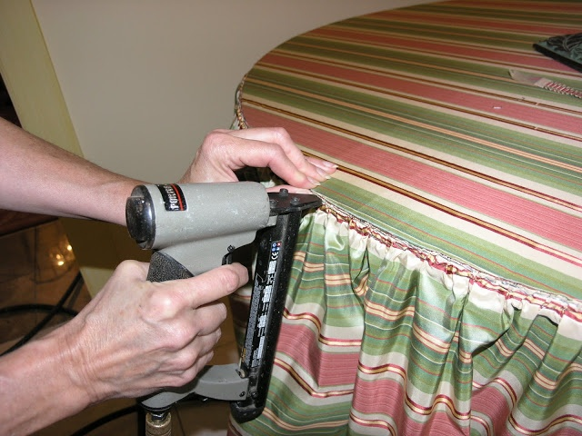 Making An Upholstered Floor Length Tablecloth