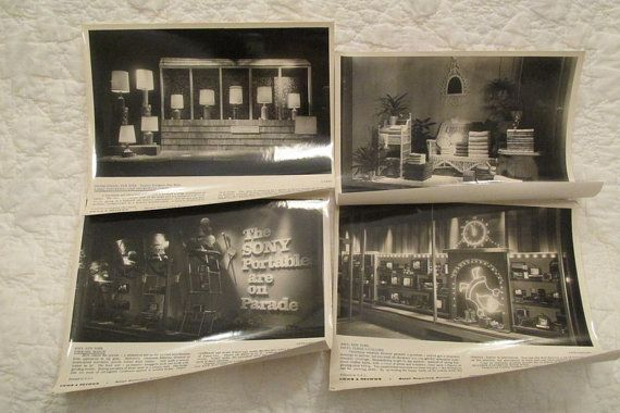 Vintage Store Display Photo's from the 1960's  by rarefinds4u