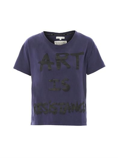 Art is resistance slogan T-shirt | Each X Other | MATCHESFASHI...
