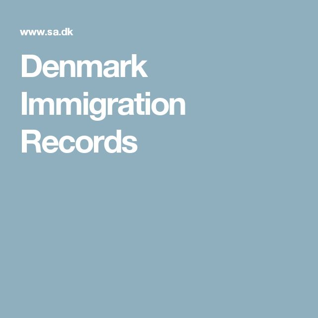Denmark Immigration Records