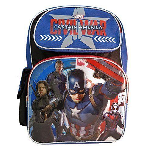 Ruz Captain America Civil War Backpack Bag. #Captain #America #Civil #Backpack