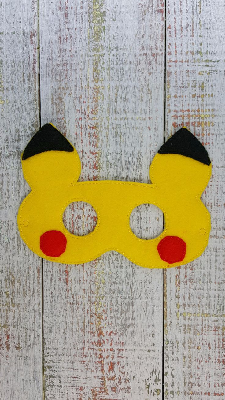 "Felt masks that fit toddler to child...and some adults Elastic is 12"" laying flat. We have so many masks that may not be listed here, so if you are looking for something not listed - send us a message"