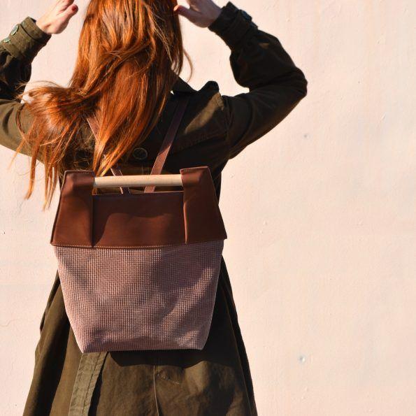 @greekdesigners  MERAKI Duende Brown Backpack