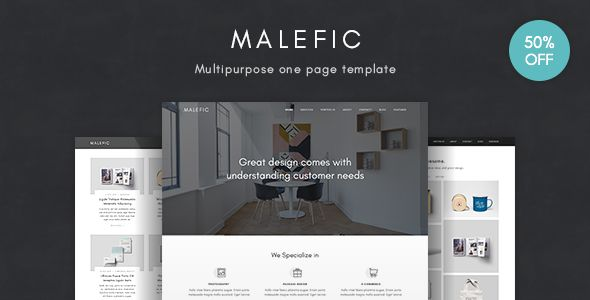 Malefic - Multipurpose One Page HTML5 Template